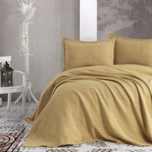 Покрывало с наволочками Eponj Home пике – Laden sari 230×240