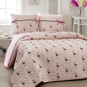 Покрывало Eponj Home Flamingo pudra 200×220