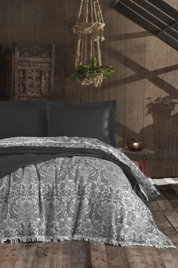купить Покрывало Eponj Home Naturel - Porto antrasit 240x260