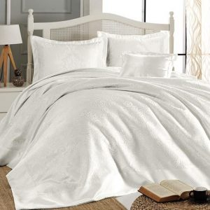 купить Покрывало Fiirst Choice sonil (шенилл) frances beyaz 240x260