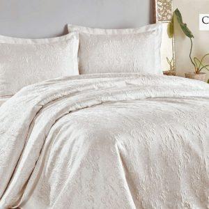 купить Покрывало с наволочками ТМ Hanibaba gardenia beyaz white 250x270