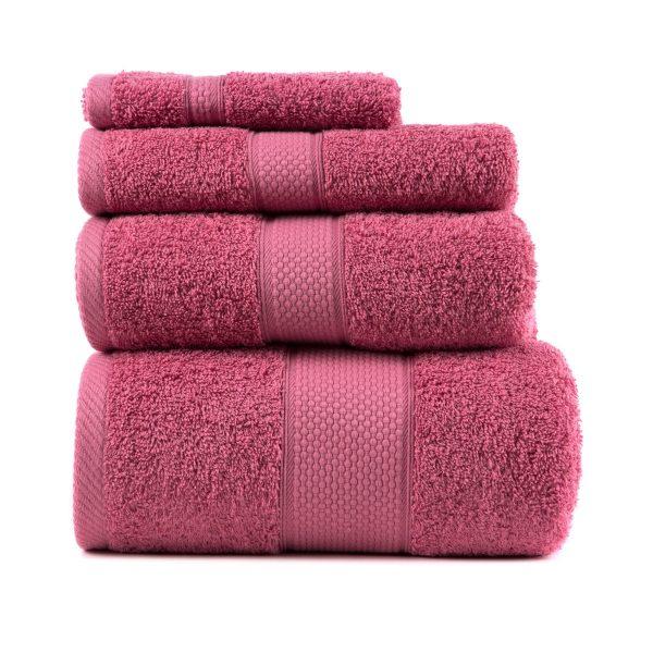 купить Полотенце ТМ Arya Однотонное Miranda Soft Розовый 2 70x140