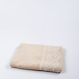 купить Полотенце бамбуковое Maxstyle - Dantela cofe 50x90
