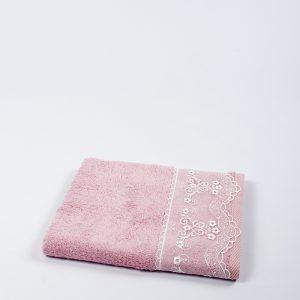купить Полотенце бамбуковое Maxstyle - Dantela pink 50x90