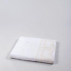Полотенце бамбуковое Maxstyle – Dantela white 50×90