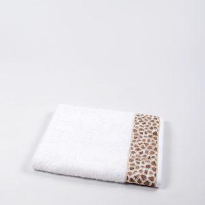купить Полотенце бамбуковое Maxstyle - Leopar white 50x90