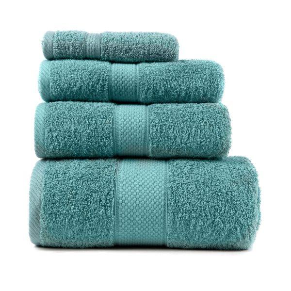 купить Полотенце махровое ТМ Arya Однотонное Miranda Soft Голубое