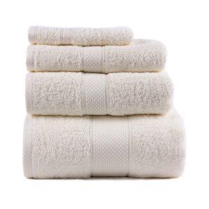 купить Полотенце махровое ТМ Arya Однотонное Miranda Soft Кремовое
