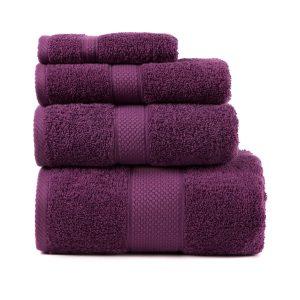 купить Полотенце махровое ТМ Arya Однотонное Miranda Soft Лиловое