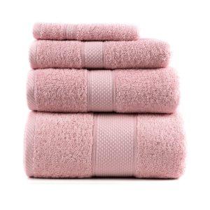 купить Полотенце махровое ТМ Arya Однотонное Miranda Soft Розовое
