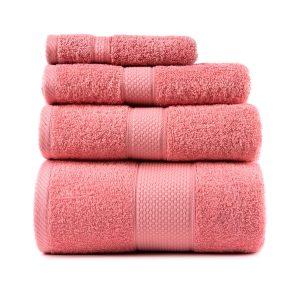 купить Полотенце махровое ТМ Arya Однотонное Miranda Soft Роз