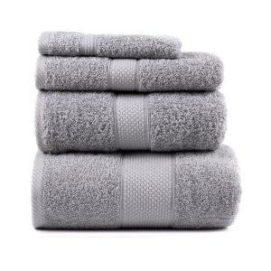 купить Полотенце махровое ТМ Arya Однотонное Miranda Soft Серое