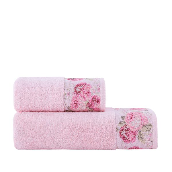 купить Полотенце махровое ТМ Arya Desima Розовое