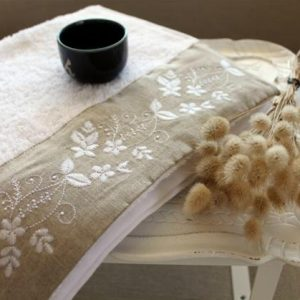 купить Полотенце махровое Barine - Petite beyaz 50x90