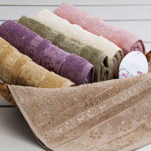 купить Полотенце махровое Cestepe - Kelebek Cotton 50x90