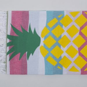 Полотенце Barine Pestemal – Ananas Green-turkuaz-raspberry 90×170