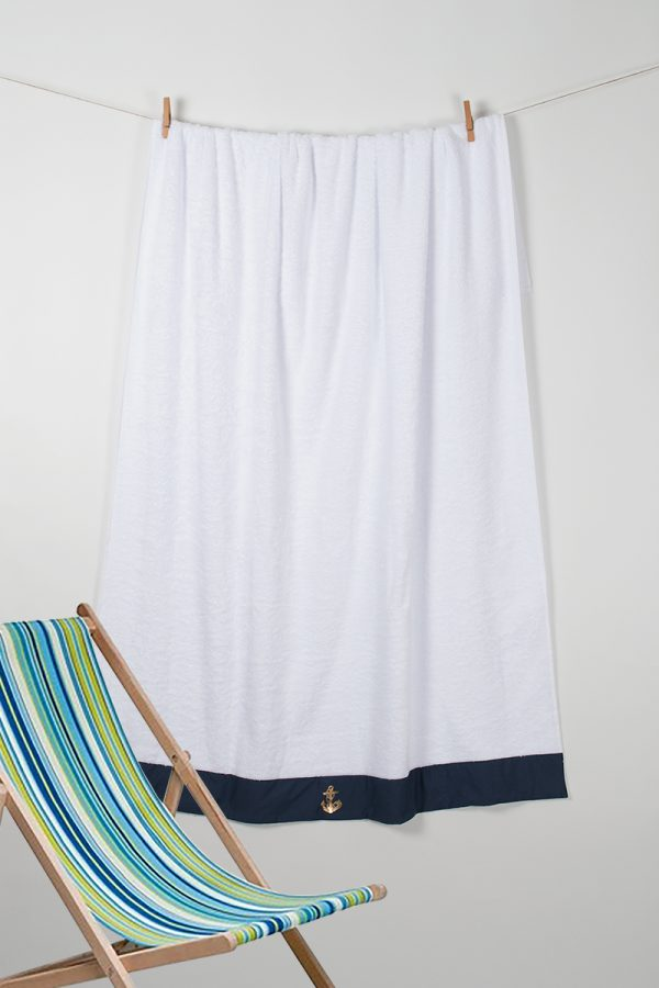 купить Полотенце Barine Pestemal - Anchor Navi 100x150