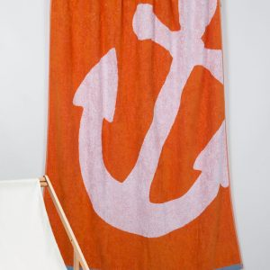 Полотенце Barine Pestemal – Anchor Oranj 100×150