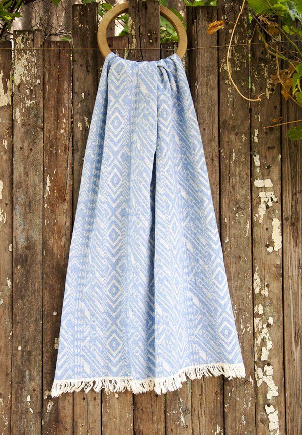 купить Полотенце Barine Pestemal - Argyle Blue 90x160