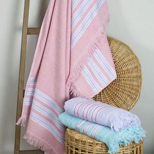 Полотенце Barine Pestemal – Escape Apricot pink 100×160