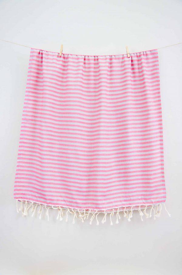 купить Полотенце Barine Pestemal - Herringbone Grey-pink 100x185