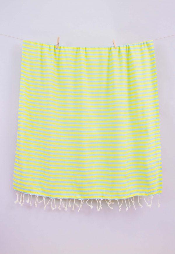 купить Полотенце Barine Pestemal - Herringbone Mint-lime 100x185
