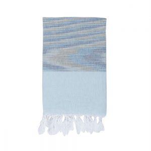 Полотенце Barine Pestemal – Marble Blue-Blue 90×160
