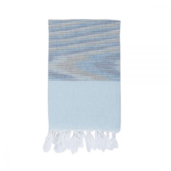 купить Полотенце Barine Pestemal - Marble Blue-Blue 90x160