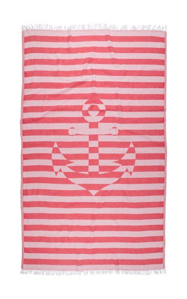 купить Полотенце Barine Pestemal - Undercover Anchor Red 95x175