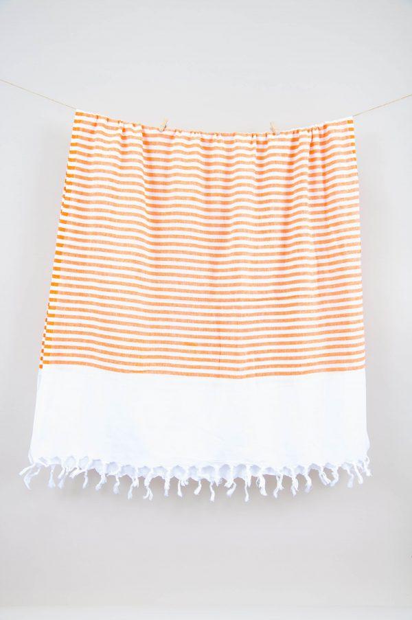 купить Полотенце Barine Pestemal - White Imbat Orange 90x170