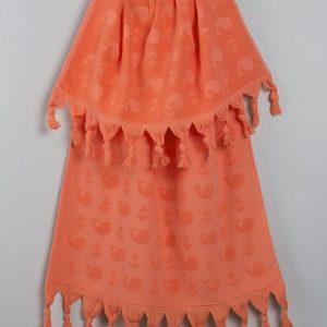 Полотенце Barine – Whale papaya 50×90