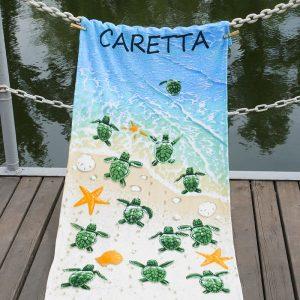 Полотенце Lotus пляжное – Caretta 75×150