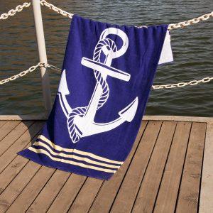 купить Полотенце Lotus пляжное - Deep Sea 75x150