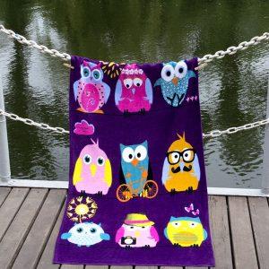 Полотенце Lotus пляжное – Owls Family 75×150
