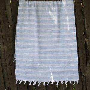 купить Полотенце Lotus Pestemal - Blue 07 Hard stripe 75x150