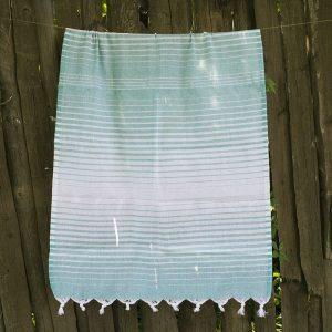 купить Полотенце Lotus Pestemal - Green 10 Micro stripe 75x150