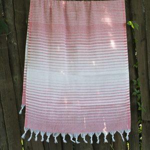 купить Полотенце Lotus Pestemal - Light-pink 05 Micro stripe 75x150