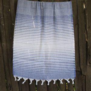 купить Полотенце Lotus Pestemal - Navy-blue 14 Micro stripe 75x150