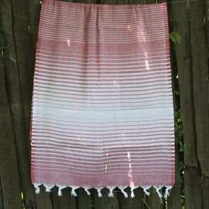 купить Полотенце Lotus Pestemal - Red 02 Micro stripe 75x150