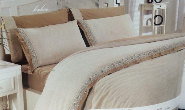 купить Постельное Белье Лен Altinbasak Cream 200x220