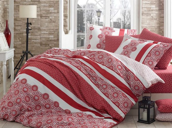 купить Постельное Белье Hobby Exclusive Sateen Lisa Красный 160x220 (2 шт)