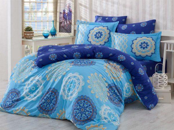 купить Постельное Белье Hobby Exclusive Sateen Ottoman Голубой