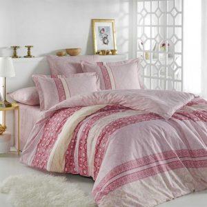 Постельное Белье Hobby Poplin Emma Розовый 200×220