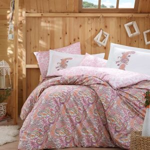 Постельное Белье Hobby Poplin Giulia Розовый 200×220