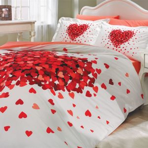 Постельное Белье Hobby Poplin Juana Красный 200×220