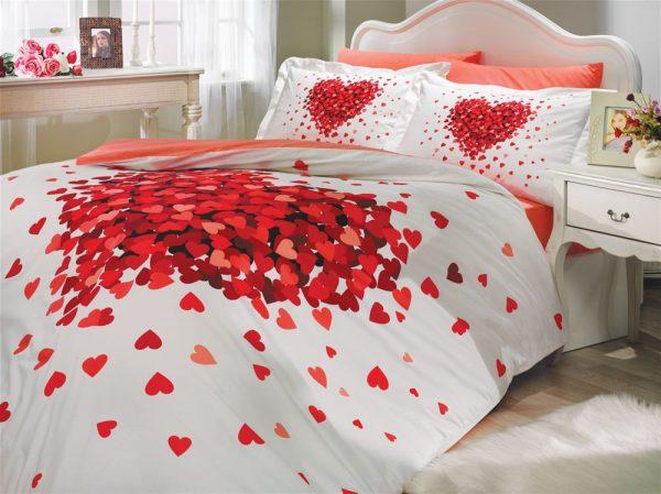 купить Постельное Белье Hobby Poplin Juana Красный 200x220