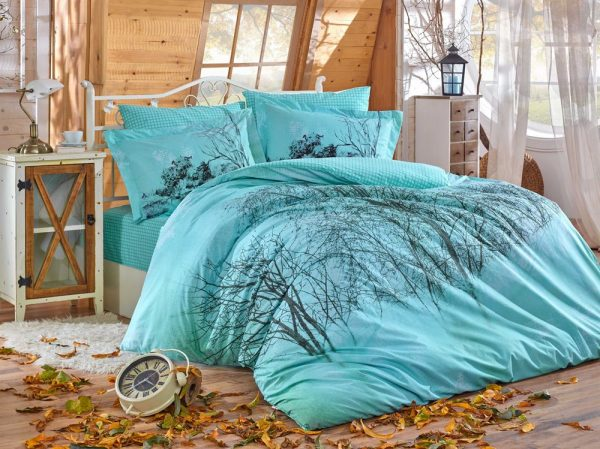 купить Постельное Белье Hobby Poplin Margherita Голубой 200x220