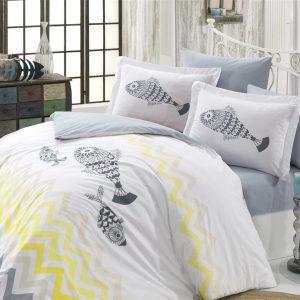 Постельное Белье Hobby Poplin Ocean Серый 200×220
