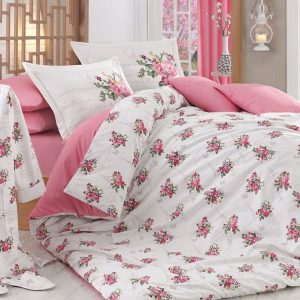 Постельное Белье Hobby Poplin Paris Spring Розовый 200×220