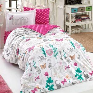 Постельное Белье Hobby Poplin Rossela Розовый 160×220